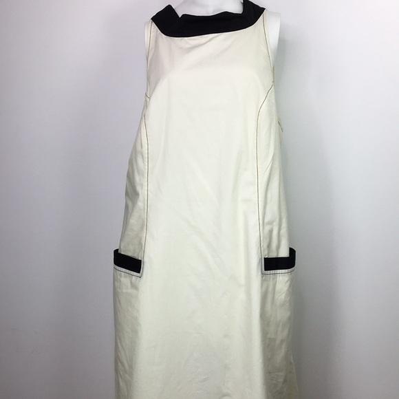 eshakti Dresses & Skirts - Eshakti dress Ivory Black sleeveless sheath sz 1X